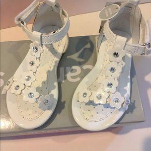 Carter's 6 toddler sandals white bling nib